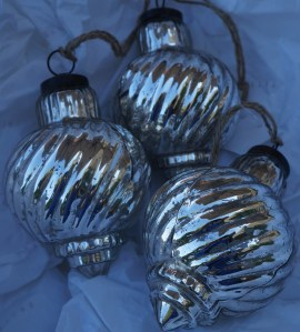 Mercury baubles found from Pottery Barn in Seattle.