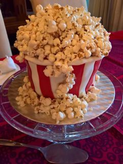Movie popcorn bowl cake.